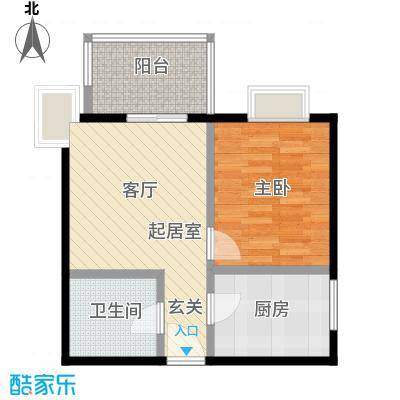 龙首领域49.00㎡49平米1室1厅1厨1卫户型