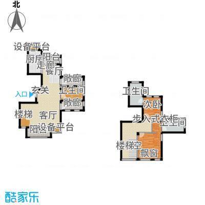 绿城理想之城97.08㎡二室二厅三卫建筑面积179.05平方米户型