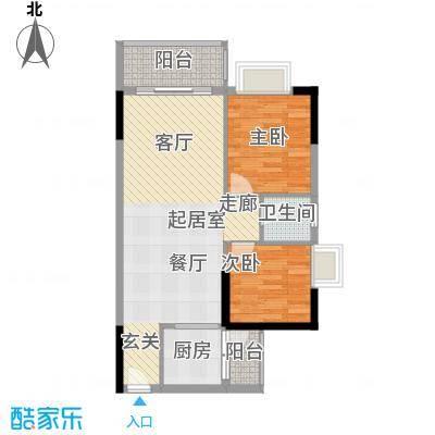香海湾76.16㎡2栋02户型2室2厅1卫户型2室2厅1卫
