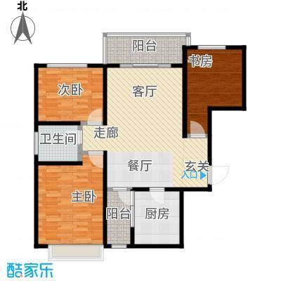 帝景国际103.60㎡高层B户型3室2厅1卫LL