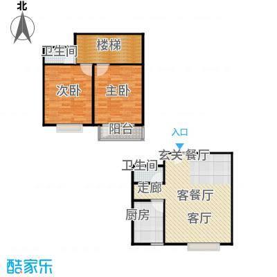 左岸春天114.01㎡两室两厅两卫114.01平米B户型2室2厅2卫