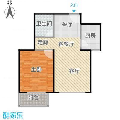 左岸春天户型1室1厅1卫1厨