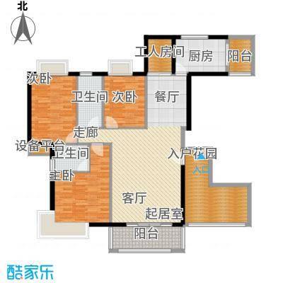 龙富花园151.74㎡C户型3房2厅2卫户型3室2厅2卫
