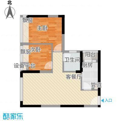 御玺山68.90㎡D1a、1b户型图2室2厅1卫户型2室2厅1卫