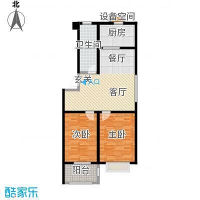 虞河小镇79.77㎡12#、32#号楼户型2室2厅1卫