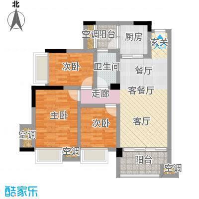 幸福湾89.00㎡1栋01单位89平三房户型图户型3室2厅2卫
