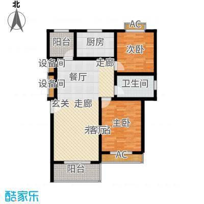 宝地名邸106.80㎡E户型2室2厅1卫