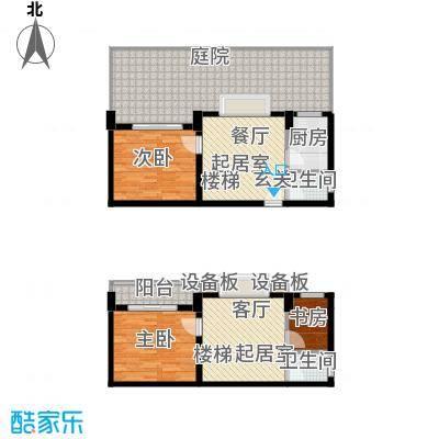 张家围17号花园三房两厅两卫107.49平米户型
