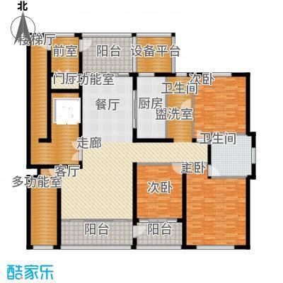 海鑫花园218.00㎡C户型3室2厅2卫