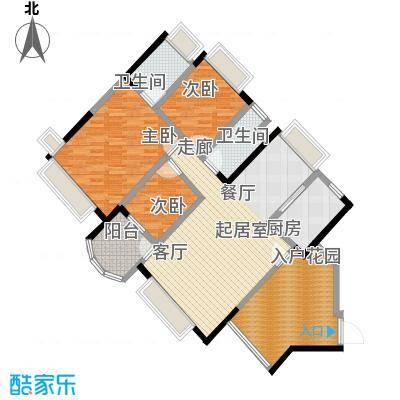 中澳春城110.00㎡三房二厅户型图户型3室2厅2卫