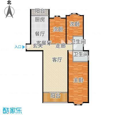 华尔街铭府户型3室1厅2卫