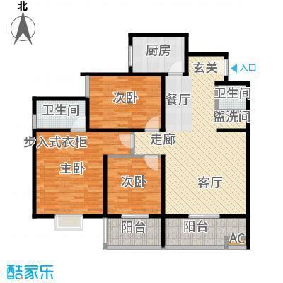 80年代138.00㎡138平米三室两厅两卫户型LL