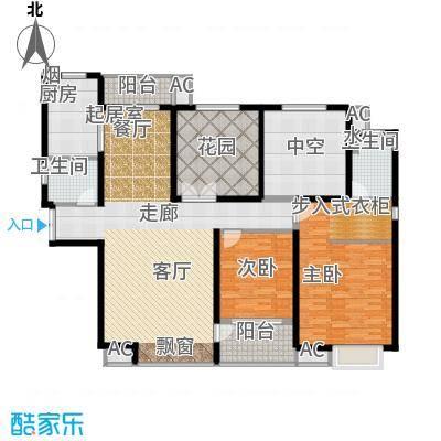 �灞一号139.07㎡D户型 2+2房两厅两卫 6米通高花园 南北双向阳台 送28.43平户型