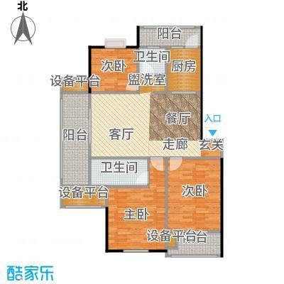 喜利达名苑G1户型116.61平方米户型