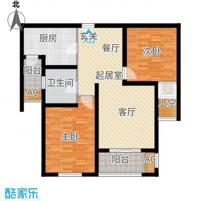 建屋海德公园85.00㎡二期21标准层01室B4户型图QQ