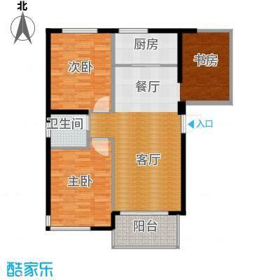 锦绣嘉园86.49㎡三期户型10室