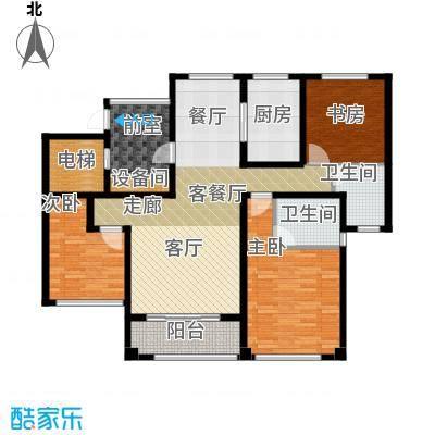 苏州望湖公寓120.00㎡E户型4室2厅2卫