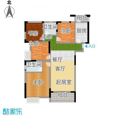 南山柠檬城128.00㎡C户型 3房2厅2卫户型4室2厅2卫