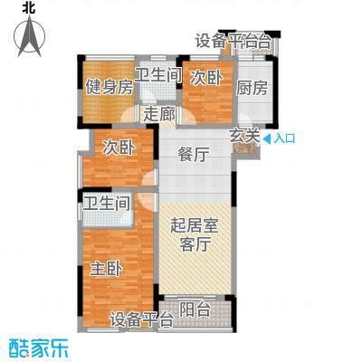 南山柠檬城120.00㎡C户型 3房2厅2卫户型3室2厅2卫