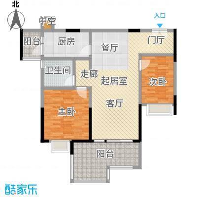 时代倾城92.00㎡92平米三房户型3室2厅1卫