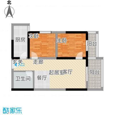 东城�景85.75㎡G户型2室2厅1卫户型2室2厅1卫
