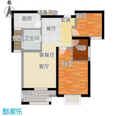 高力金色果缘户型3室1厅1卫1厨