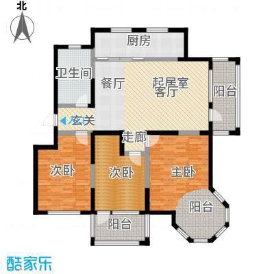滨海・舜景苑户型3室1卫1厨