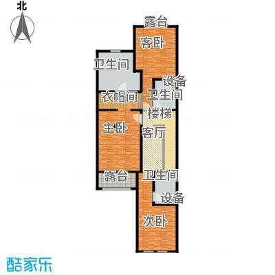 沈阳国王湖263.00㎡伯爵户型2 二层户型