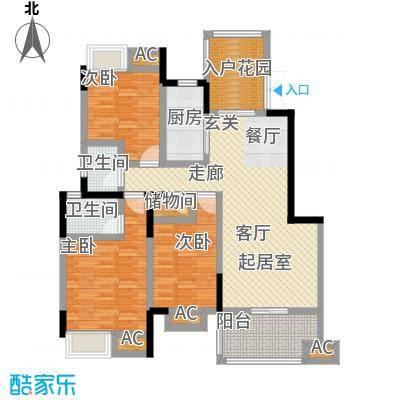 明发锦绣银山B区8,910楼c1户型3室2厅2卫-T
