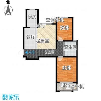 金桥澎湖山庄89.57㎡22号楼G10户型2室2厅1卫