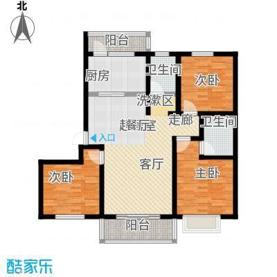 滨海桂冠户型3室2卫1厨