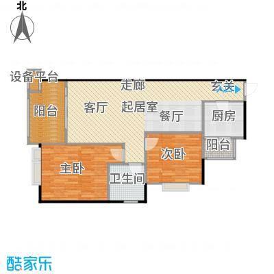 龙光城86.07㎡50栋高层Cc-6户型2室2厅1卫1厨户型2室2厅1卫