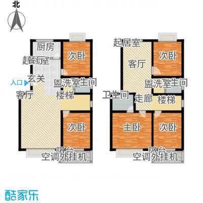 昊海花园237.63㎡E户型 六室两厅三卫户型6室2厅3卫