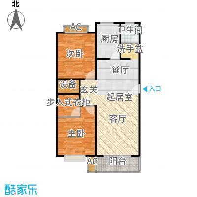 滨海花园三室一厅一卫户型3室1厅1卫