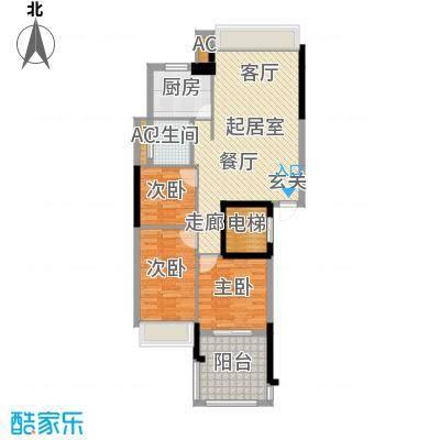 锦绣江南QQ户型3室1卫1厨