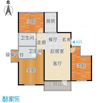 中海康城户型3室2卫1厨