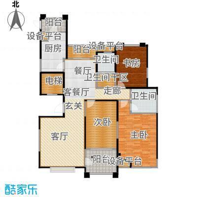 风尚米兰143.00㎡3室2厅2卫面积:143平方米户型3室2厅2卫