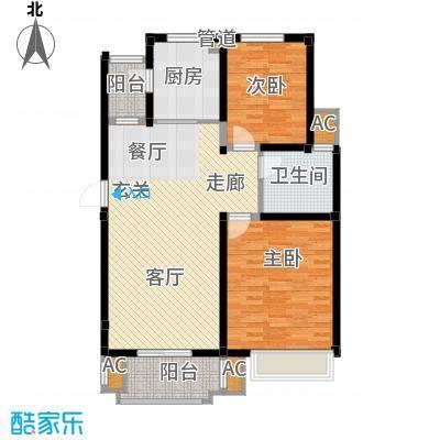 海正香醍湾97.39㎡A2 两室两厅一卫户型2室2厅1卫