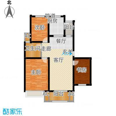 海正香醍湾108.39㎡A1 三室两厅一卫户型3室2厅1卫