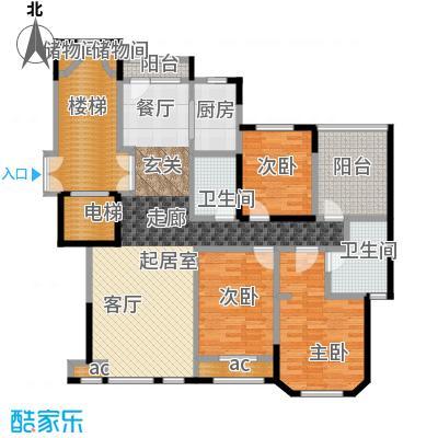 金地锦城125.00㎡洋房18号楼19号楼 三室两厅两卫户型3室2厅2卫