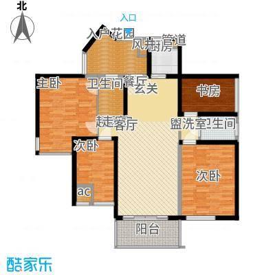 万盛凤凰城4#07单元(2+2)房2厅2卫,约111.85㎡户型4室2厅2卫