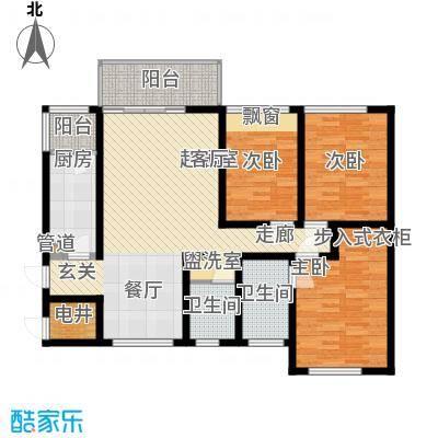 万盛凤凰城3#05、06单元4#05单元(2+1)房2厅(1+1)卫,约89㎡户型3室2厅2卫