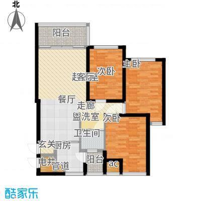 万盛凤凰城1#01单元(2+1)房2厅1卫,约85.83㎡户型3室2厅1卫