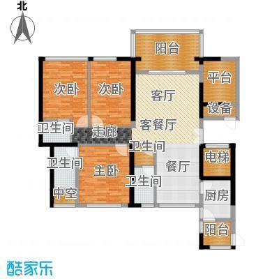 富邦新天地二期户型3室1厅4卫1厨