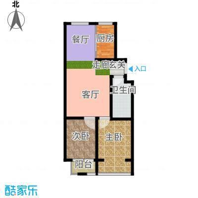 嵛景华城88.64㎡29和30号楼C户型2室2厅1卫