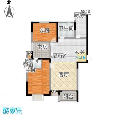 北大锦城127.00㎡10/17/18楼户型3室3厅2卫