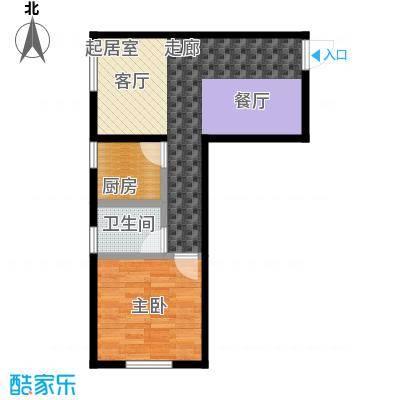西美花街71.00㎡公寓 F2户型 一室两厅一卫户型1室2厅1卫
