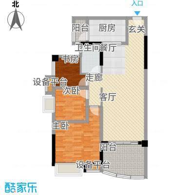 碧桂园温泉城104.28㎡户型 C户型3室2厅