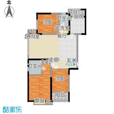 北大锦城140.00㎡10/14/ 17/18号楼 三室两厅两卫户型3室2厅2卫