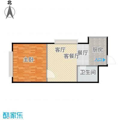 潍坊世贸中心F户型 一室两厅一卫户型1室2厅1卫